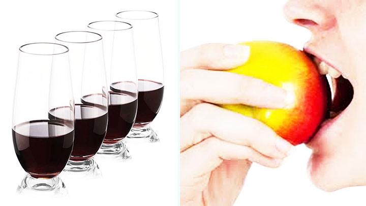 drinking glasses bit of your food - cold sores contagious