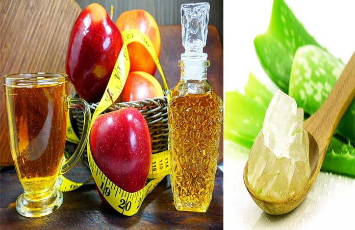 Apple Cider Vinegar And Aloe Vera for hair growth