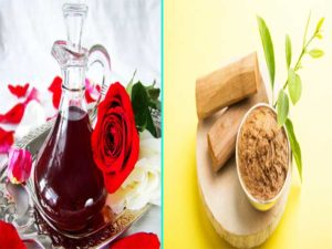 rose water and sandalwood- How To Get Rid Of Acne Scars Quickly