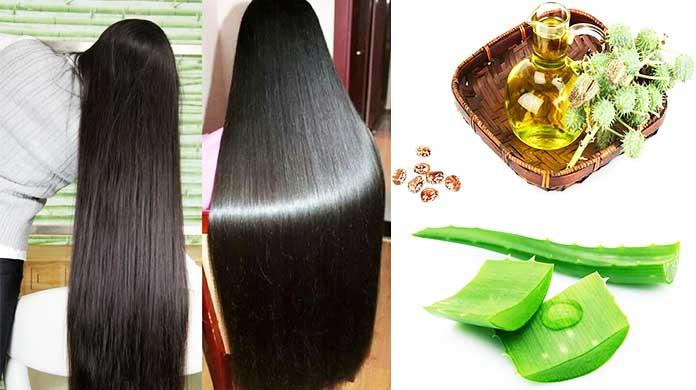 Castor Oil For The Hair - How To Use Castor Oil And Aloe Vera Gel For Hair Growth