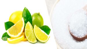 Lemon Salt Scrub - On Inflamed Skin - 13 Homemade Natural Tips DIY Face Scrubs For All Skin