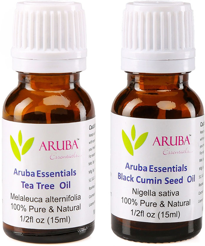Tea Tree Oil And Black Cumin Oil - DIY Face Mask For Pimples