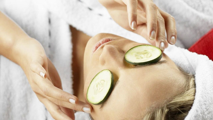Slices of Cucumber - Remedies for Red Eyes