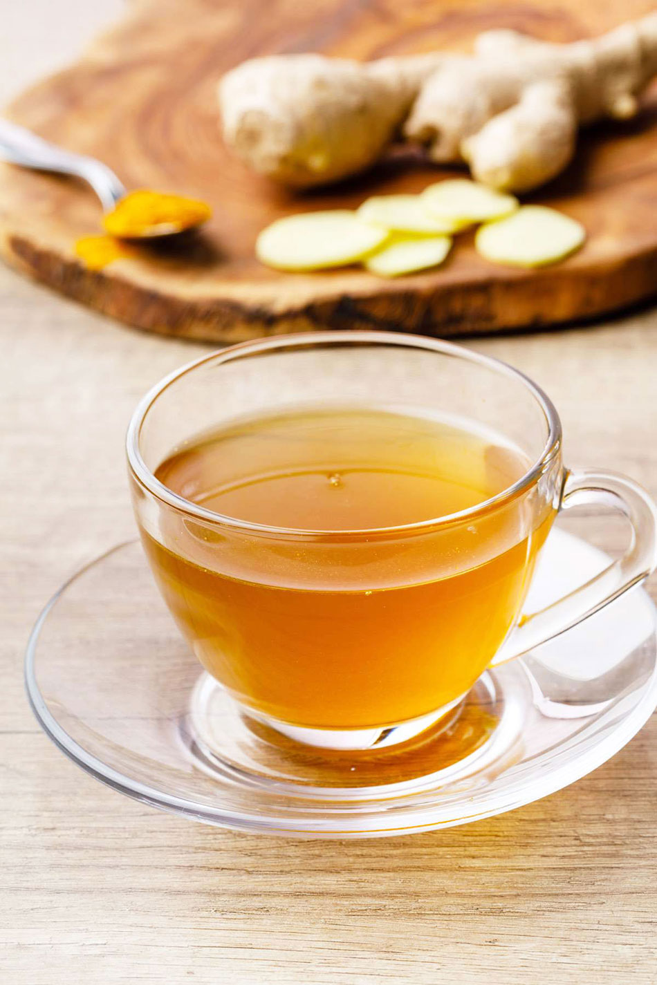 how to prepare ginger tea - how much ginger water per day - Tea With Ginger, Lemon, And Honey For Immunity - Recipe