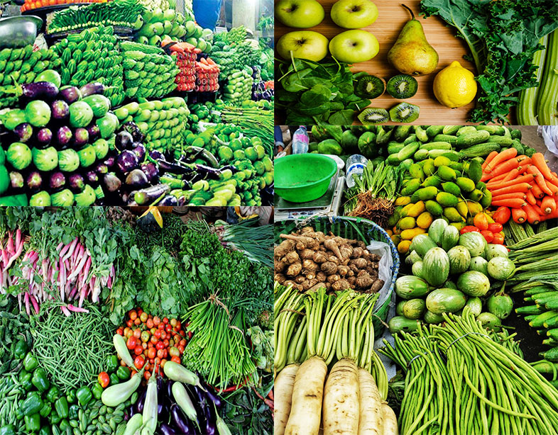 Green And Yellow Vegetables & Fruits - Pregnancy Nutrition